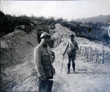La sortie du tunnel Marchaud (côté Nord) Août 1916