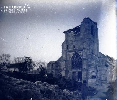 L'église de Cormicy dans la Marne en février 1917