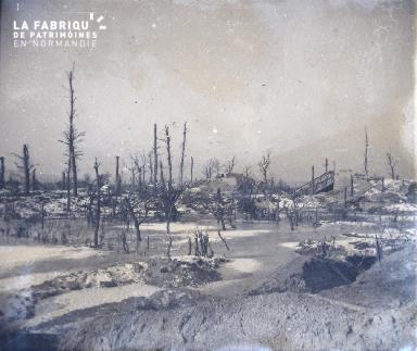 Marne-Pont détruit sur le canal de l'Aisne à hauteur de Sapign