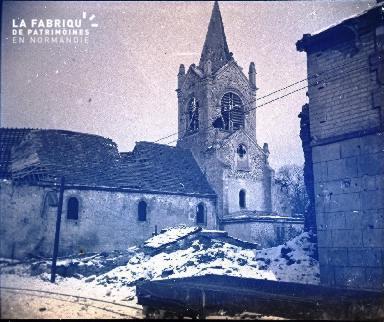 Pontavert-L'église de. Février 1917