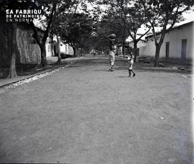Rue dans un village africain