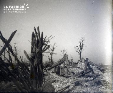 Ruines du village de Sapigneul en février 1917