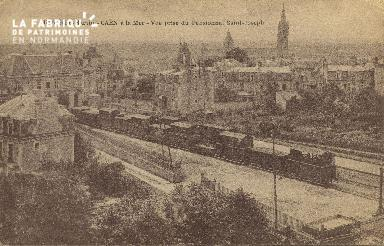 Cl 06 034 Caen à la mer-Gare Saint Martin- vue prise du pensionnat St jos