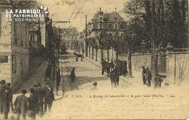 Cl 06 044 Caen-l'avenue de courseulles et la gare Saint Martin-LL