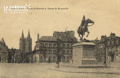 Cl 06 055 Caen-place Saint Martin et statue de Dugueslin