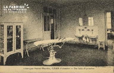 Cl 06 072 Caen-clinique Saint Martin-une table d'opération
