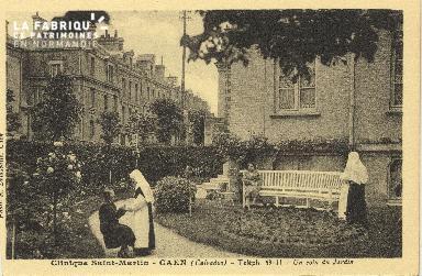 Cl 06 078 Caen-clinique Saint Martin-Un coin du jardin