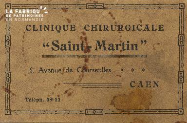 Cl 06 079 Caen-clinique chirurgicale Saint Martin-6 avenue de Courseulles