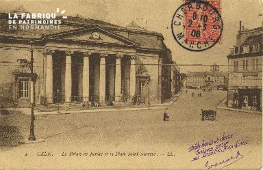 Cl 06 090 Caen-Palais de justice et la place St-Sauveur
