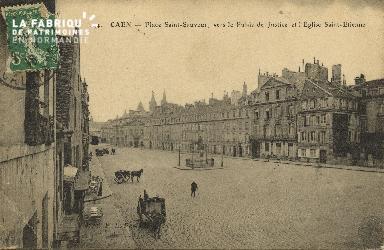 Cl 06 114 Caen-Place St Sauveur,vers le palais de justice et l'église