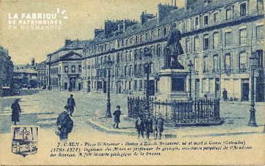 Cl 06 118 Caen-Place St Sauveur-Statue d'Elie de Beaumont,né et mort à