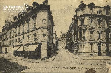 Cl 06 124 Caen-La rue Guillaume le Conquérant et la rue Jean-Marot