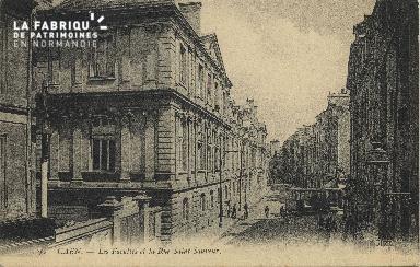 Cl 06 127 Caen-Les facultés et la rue St Sauveur