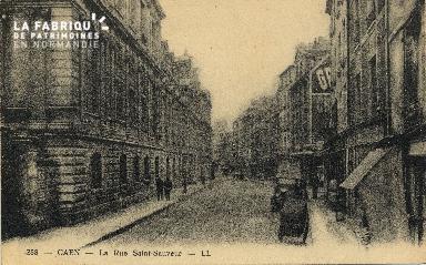 Cl 06 128 Caen-La rue St Sauveur