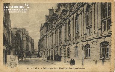 Cl 06 132 Caen-Bibliothèque de la faculté et rue St Sauveur