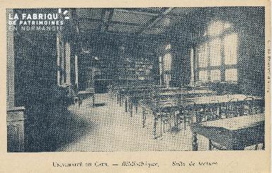 Cl 06 136 Caen-université de Caen-Bibliothèque-Salle de lecture