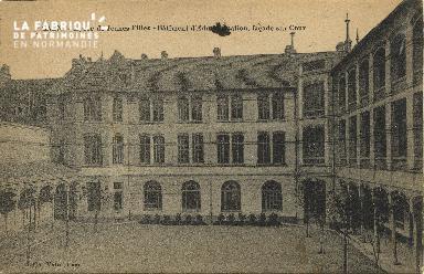 Cl 06 152 Caen-Lycée de jeunes filles-batiment d'administration,façade