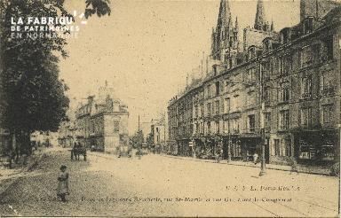 Cl 06 183 Caen-Place de l'ancienne boucherie, rue Saint Martin et rue Gui