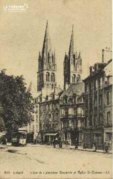 Cl 06 187 Caen-Place de l'ancienne boucherie et église de St Etienne
