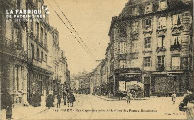 Cl 06 190 Caen-Rue Caponière prise de la place des Petites-Boucheries