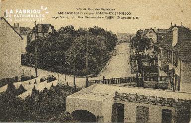 Cl 06 196 Caen-Vue du parc des pépinières-Lotissement crée par Caen-EX