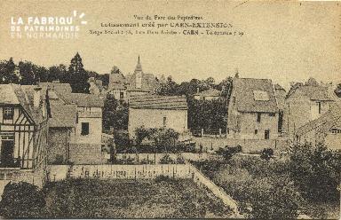 Cl 06 197 Caen-Vue du parc des pépinières-Lotissement crée par Caen-EX