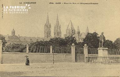Cl 06 240 Caen-Place du parc et Abbaye aux hommes