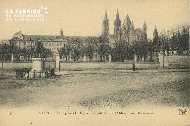 Cl 06 243 Caen-Le lycée et l'église St Etienne (abbaye aux hommes )