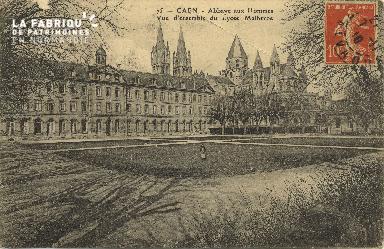 Cl 06 246 Caen-Abbaye aux hommes-Vue d'ensemble du lycée Malherbe