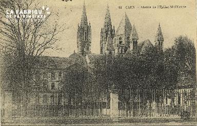Cl 06 252 Caen-Abside de l'église St Etienne