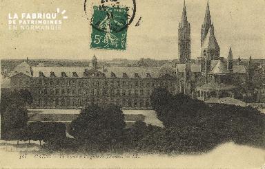 Cl 06 254 Caen-Le lycée et l'église St Etienne