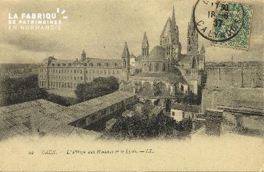Cl 06 257 Caen-l'Abbaye aux hommes et le lycée