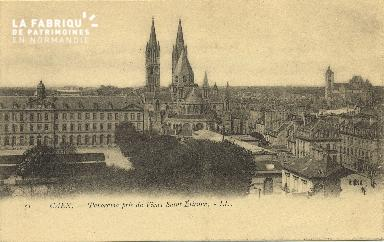 Cl 06 259 Caen-Panorama pris du vieux St Etienne