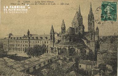 Cl 06 262 Caen-Eglise St Etienne-Abbaye aux hommes, côté de l'Abside e