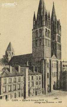 Cl 06 266 Caen-Eglise St Etienne(XIIIe s)-Abbaye aux hommes