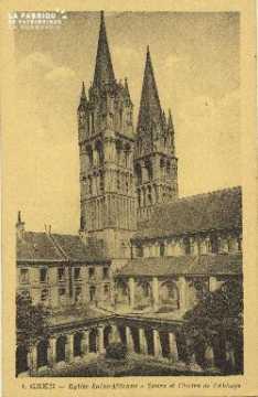 Cl 06 272 Caen-Eglise St Etienne-Tours et cloître de l'abbaye