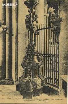 Cl 06 276 Caen-Eglise St Etienne(ancienne Abbaye aux hommes)-Lampadair