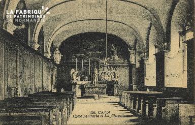 Cl 06 278 Caen-Lycée Malherbe et la chapelle