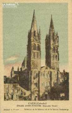 Cl 06 322 Caen-Eglise St Etienne (ensemble Ouest)