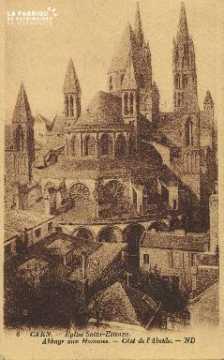 Cl 06 324 Caen-Eglise St Etienne-Abbaye aux hommes-Côté de l'abside