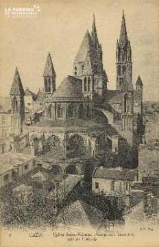 Cl 06 326 Caen-Eglise St Etienne, abbaye aux hommes, côté de l'abside