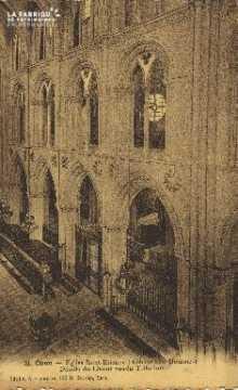 Cl 06 328 Caen-Eglise St Etienne (abbaye aux hommes) details du choeur