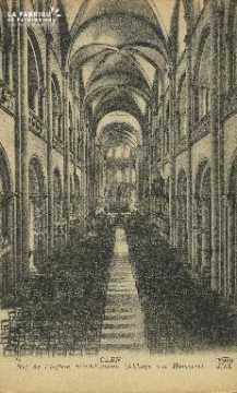 Cl 06 329 Caen-Nef de l'église St Etienne (abbaye aux hommes)