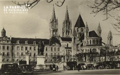 Cl 06 331 Caen-Le lycée Malherbe et l'abside St Etienne (Abbaye aux ho