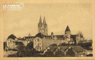 Cl 06 333 Caen-Eglise St Etienne et abbaye aux hommes-Vue de la maison
