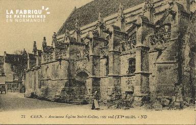 Cl 06 356 Caen-Ancienne église St Gilles,côté sud