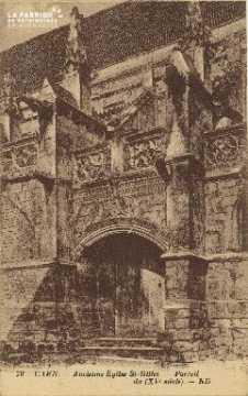 Cl 06 363 Caen-Ancienne église St Gilles-Portail du XVe siecle