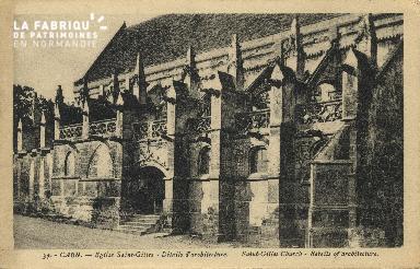 Cl 06 364 Caen Eglise St Gilles-Détails d'architecture
