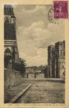 Cl 06 382 Caen L'église St Gilles et l'église de la Trinité (abbaye au