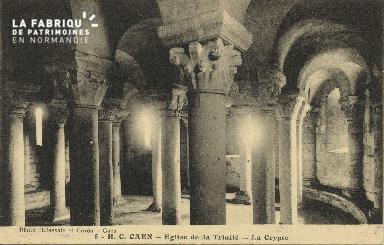 Cl 06 389 Caen-Eglise de la trinité-La crypte
